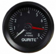 DURITE 52mm Tachometer, Rev counter  , 12 volt